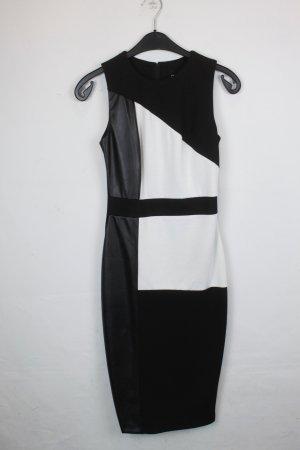 Asos Pencil Dress black-white mixture fibre