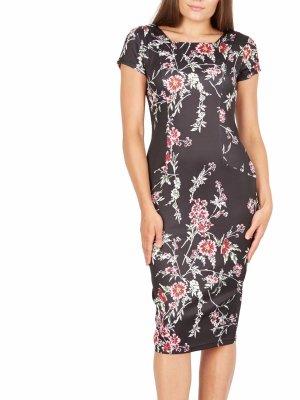 Asos Kleid geblümt schwarz 40