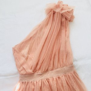 Asos Kleid Gr. 36 nude Tüll one shoulder cocktailkleid
