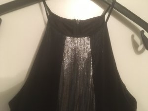 Asos Cut Out Dress black-silver-colored