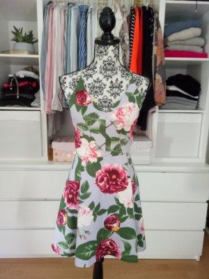 Asos Kleid Hochzeit Cocktailkleid Rückenausschnitt Petite S M 36 38 Blumen