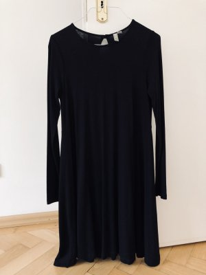 Asos Kleid Jersey Jerseykleid Baumwolle schwarz 36 S