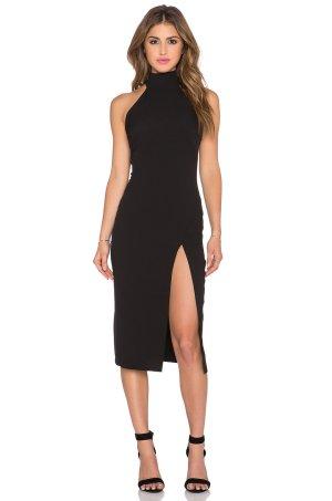 ASOS Kleid mit hohem Schlitz Schwarz Spitze 34
