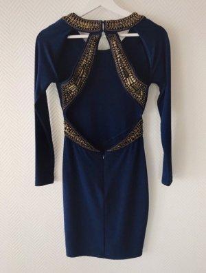 Asos Mini-jurk donkerblauw-goud
