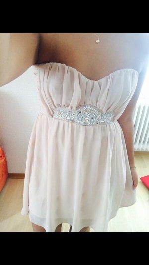 asos Kleid nude altrosa kaum getragen