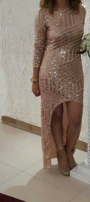 Asos Kleid Pailletten Glitzer 40 rückenfrei