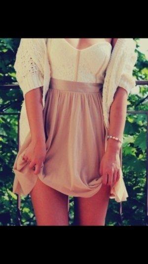 Asos Kleid Petite nude spitze beige weiß S 38 einmal getragen bandeaukleid kleid