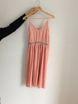 Asos Kleid Rosa / Lachs Farben knielang Gr. 34 # wie neu