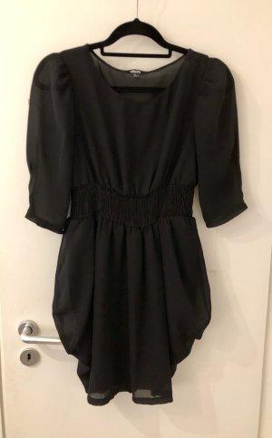 Asos Kleid schwarz 36 38 S M Mini Top dreiviertel Arm