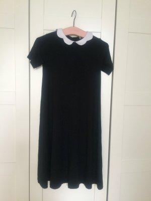 Asos Babydoll Dress black-white cotton