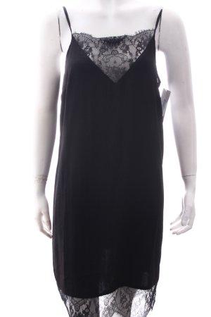 Asos Kleid schwarz Lingerie-Look
