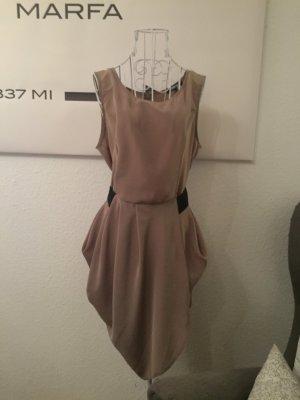 Asos Kleid, schwarz nude, 38, seidig