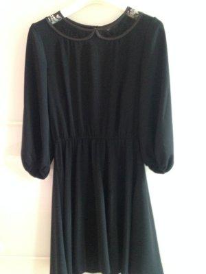 Asos Kleid schwarz Spitzenkragen