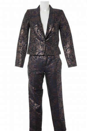 Asos Ladies' Suit dark blue-bronze-colored mixed pattern extravagant style