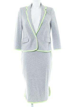 Asos Traje para mujer gris claro-verde neón estampado a rayas look casual