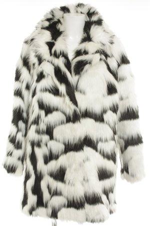 Asos Fake Fur Jacket white-black animal print