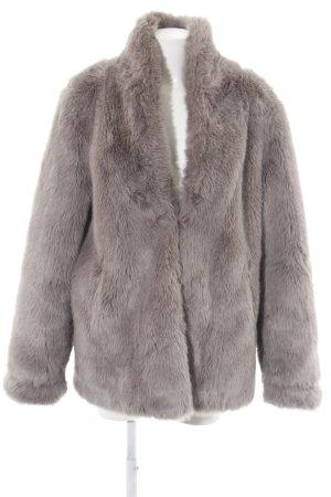 Asos Fake Fur Coat light grey casual look
