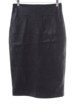 Asos Kunstlederrock schwarz Elegant