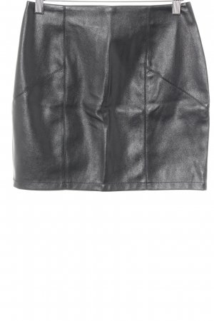 Asos Faux Leather Skirt black biker look