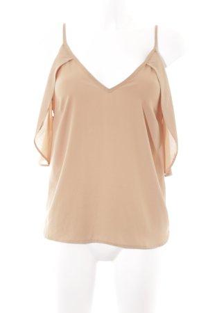Asos Kurzarm-Bluse camel minimalistischer Stil