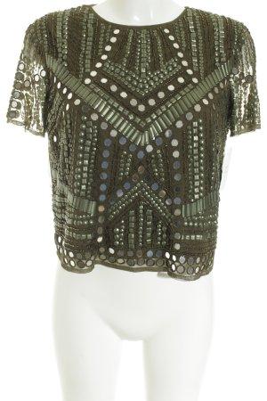 Asos Kurzarm-Bluse mehrfarbig extravaganter Stil