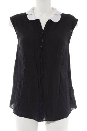 Asos Kurzarm-Bluse schwarz-weiß schlichter Stil