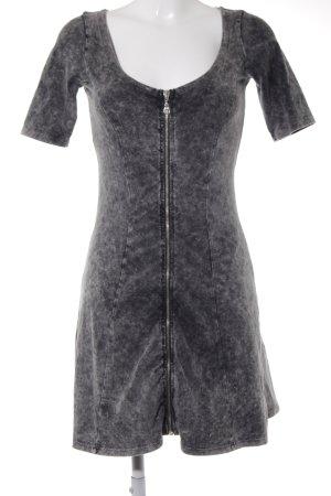 Asos Jurk met korte mouwen grijs straat-mode uitstraling