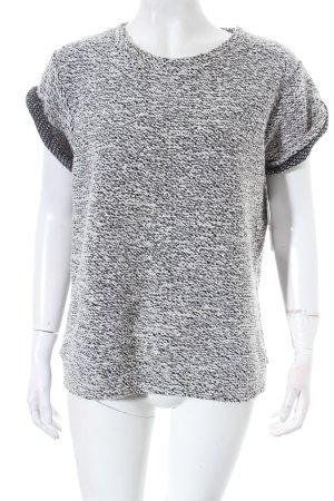 Asos Kurzarmpullover weiß-schwarz schlichter Stil