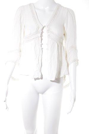 Asos Langarm-Bluse creme Boho-Look