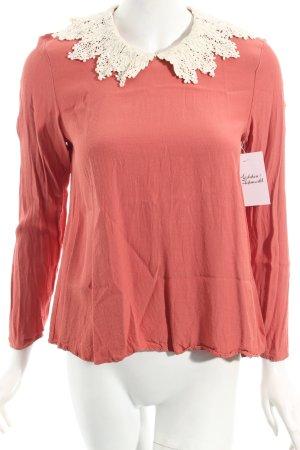 Asos Langarm-Bluse rosa Retro-Look