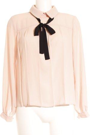 Asos Langarm-Bluse schwarz-rosé Elegant