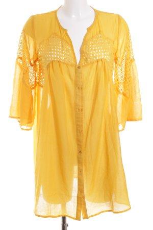 Asos Langarmkleid gelb Aztekenmuster Street-Fashion-Look