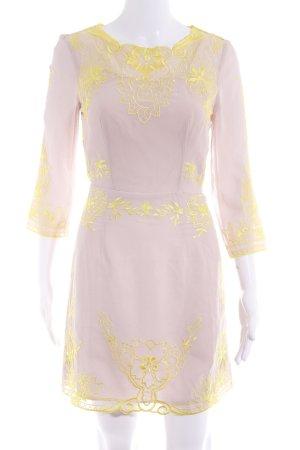Asos Langarmkleid gelb-rosé Casual-Look