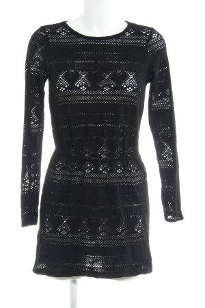Asos Longsleeve Dress black beach look