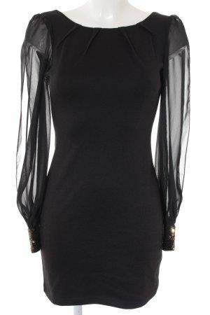 Asos Jurk met lange mouwen zwart elegant
