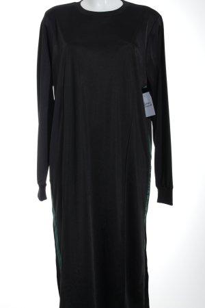 Asos Langarmkleid schwarzbraun-waldgrün extravaganter Stil