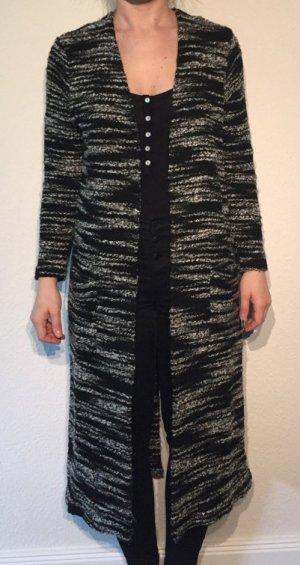 Asos langer Cardigan schwarz/grau 34