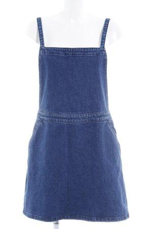 Asos Bib Denim blue casual look