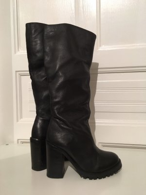 Asos Hoge laarzen zwart Leer