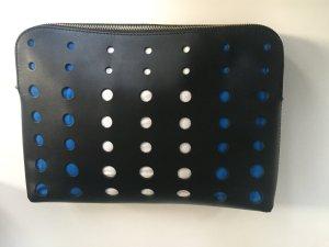 ASOS – Leder-Clutch mit ausgestanztem Design - Schwarz