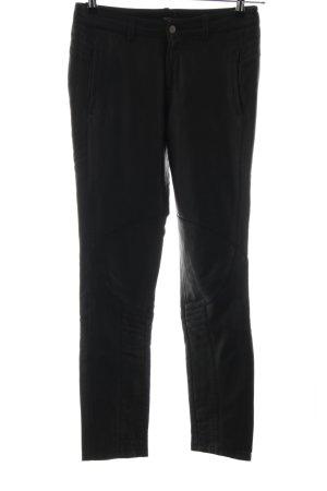 Asos Pantalón de cuero negro look casual