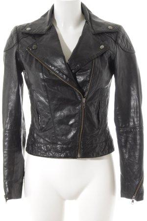 Asos Veste en cuir noir Look de motard