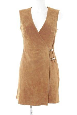 Asos Leren jurk cognac country stijl