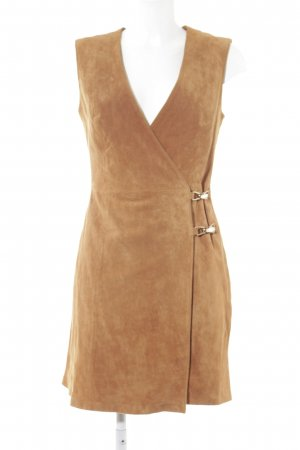Asos Leather Dress cognac-coloured country style