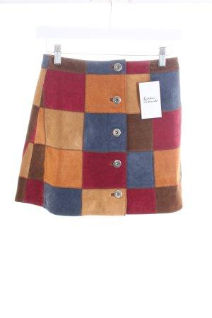 Asos Lederrock mehrfarbig 70ies-Stil
