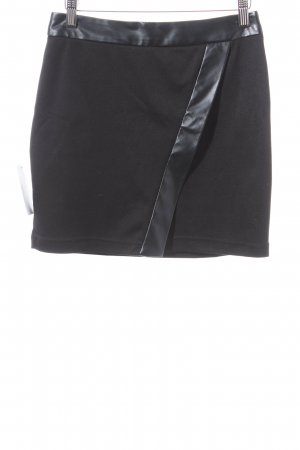 Asos Lederrock schwarz Leder-Optik