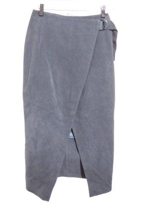 Asos Lederrock stahlblau-graublau Casual-Look