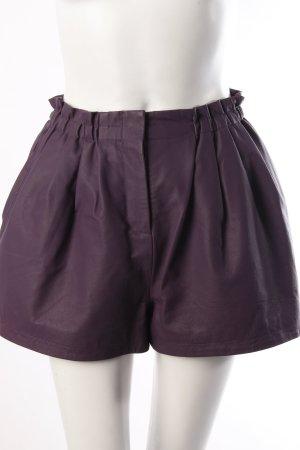 Asos Ledershorts violett