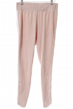 Asos Leggings rosa empolvado-blanco look casual