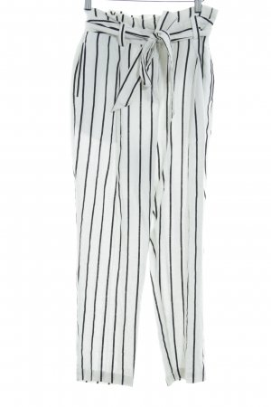 Asos Linen Pants oatmeal-black striped pattern street-fashion look